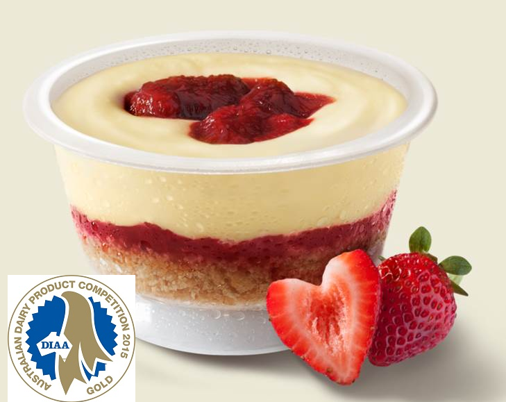 Our award winning Strawberry Cheesecake